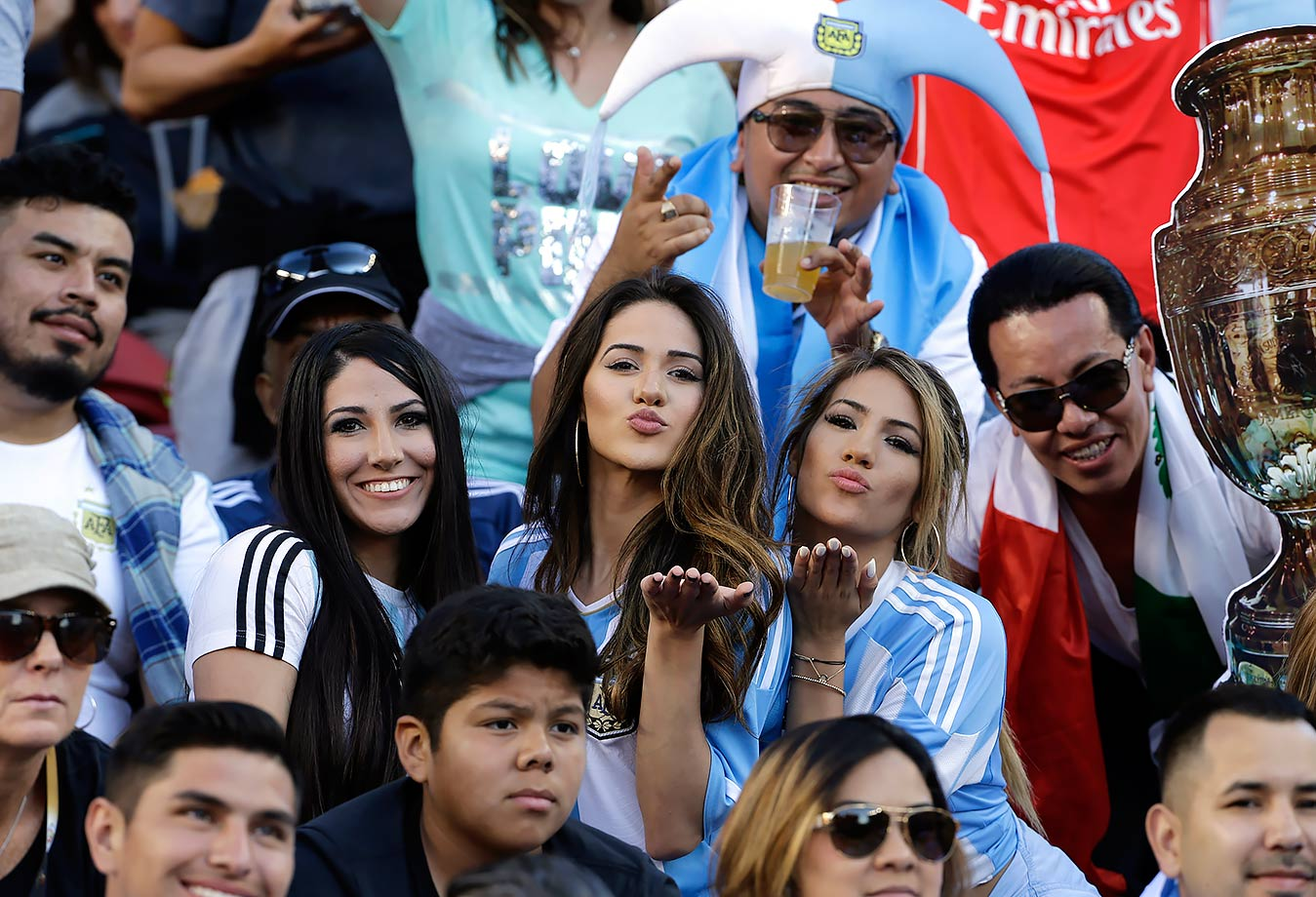 Argentina Fans cheer in Copa america