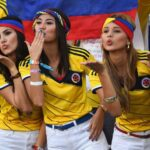 Colombian girls cheer their nation in Copa America