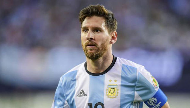 Lionel Messi Argentina football star