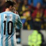 Lionel Messi in Copa America Football competition