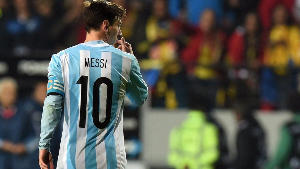 Lionel Messi in Copa America Football competition